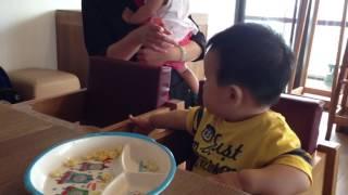 20130721在ATT的Vapiano聚餐,兒子小時候好可愛