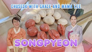 COOKING SONGPYEON RICE CAKE (송편) with Mama Lee! | Grace Lee TV