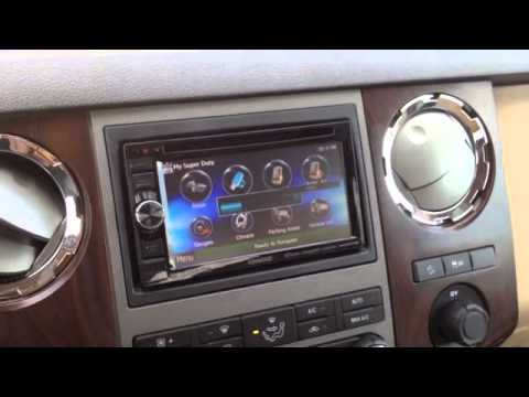 2015 Ford F250 Speaker Wiring 2012 Ford F250 Kenwood Nav With Sync Retention Youtube