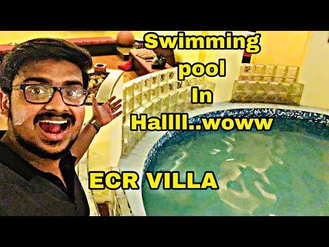 Swimming pool in Hall..Woww| ECR Villa | ECR Ride | Friends Forever | Weekend In ECR | Tamil Vblog50