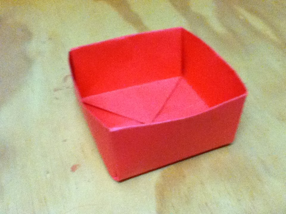 How to make an origami box paper box step by step for How to build box steps