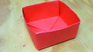 How To Make An Origami Box - Paper Box - Step By Step Instructions - Simple And Easy