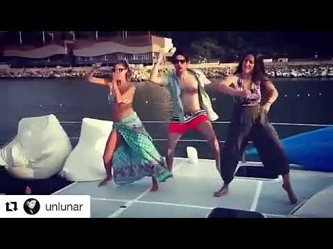 Stephanie Cayo y familia bailando (spotP. para DANCESTUDIOPERU