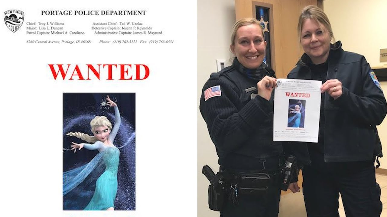 Police Issue Warrant for Queen Elsa's Arrest Because of Arctic Chill