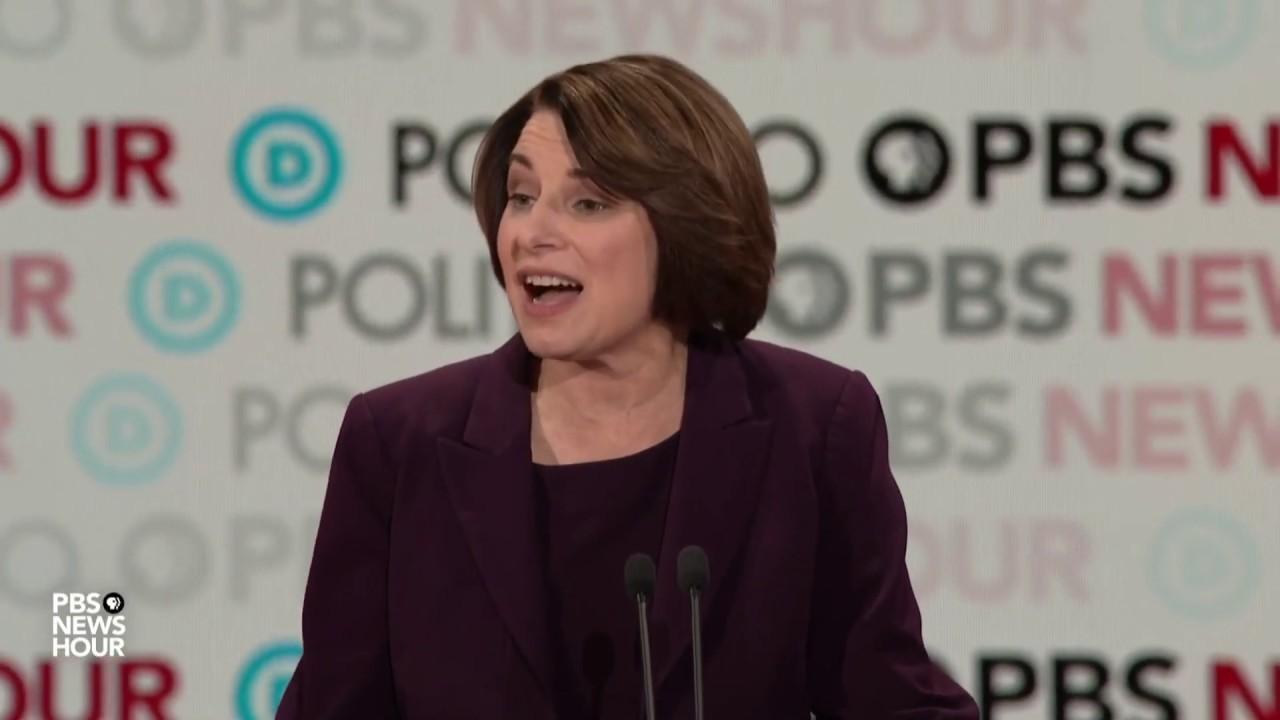 Amy Klobuchar finally finds her voice during Democratic debate
