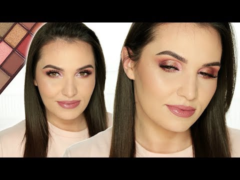 🌹 PRZEGADANY TUTORIAL: Dziewczęcy makijaż paletką Chocolate Rose Gold Makeup Revolution 🌹