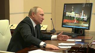 """Владимир Путин рассказал школьникам о своем пути к профессии на открытом уроке форума """"Проектория""""."""
