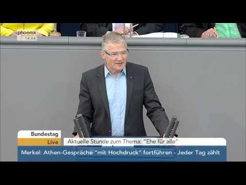 """Bundestag: Aktuelle Stunde zum Thema """"Ehe für alle"""" am 11.06.2015"""