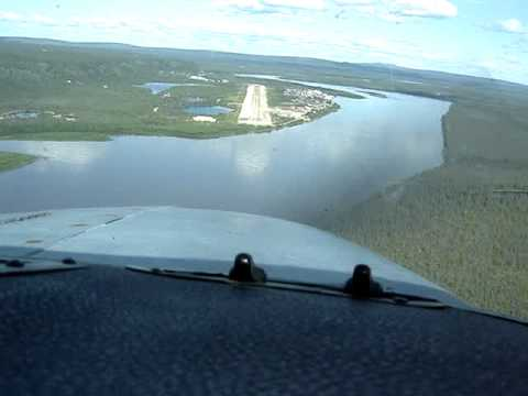 Landing Old Crow Canada Rwy 03 Cockpit View