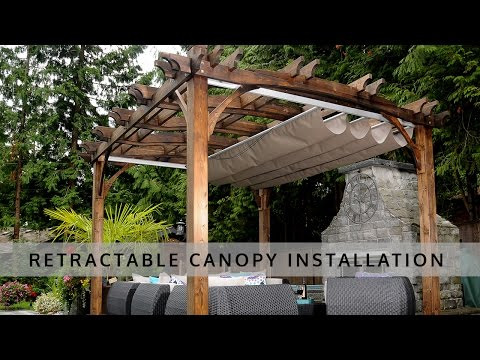 Retractable Pergola Canopy Installation - OLT
