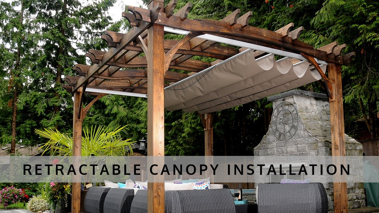 Retractable Pergola Canopy Installation - OLT & Retractable Pergola Canopy Installation - OLT - YouTube