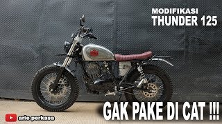 Modifikasi Thunder 125,  Body TANPA DI CAT !!!