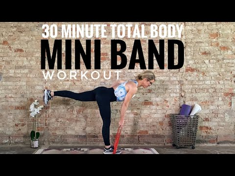 30 Minute Total Body Mini Band Workout. Challenging At-home Fitness