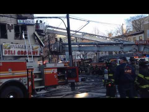 FDNY BATTLING 3 ALARM FIRE ON E. 163RD ST. & TINTON AVE. MORRISANIA, BRONX, NEW YORK CITY.