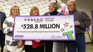 BIGGEST LOTTER WINNER  IN HISTORY :-  528 MILLION DOLLAR!!
