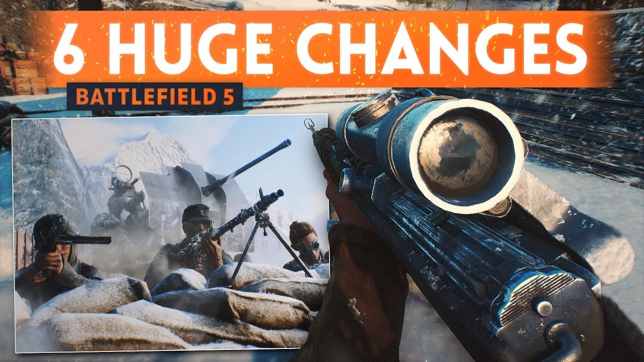 6 BIG GAMEPLAY CHANGES For Battlefield 5 - Proof DICE Listens To Feedback! (BF5 Medic Gameplay)