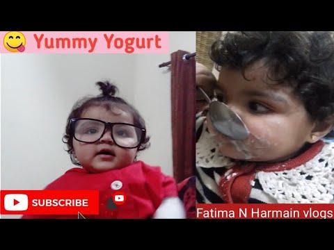 a-cute-kid-eating-yogurt-l-kid-eating-yogurt-l-fatima-and-harmain-vlogs