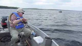 Three Fish in 5 Minutes on Nungesser lake