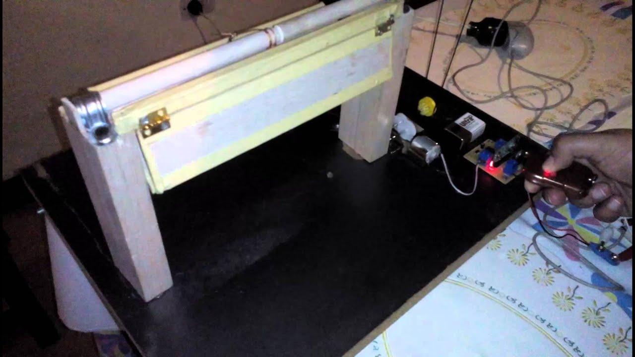 Puerta de garaje automática con sensor rf - YouTube