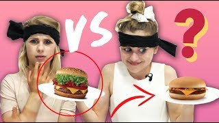 Can Sabre Norris guess the LUXURY burger vs the TAKEOUT burger?