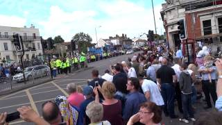 Tour De France Comes Through Woodford Green, Essex, England, Uk In Hd 1080p