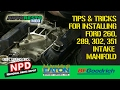 Classic How to 289 302 351 Windsor Ford Intake Manifold Install Episode 303 Autorestomod