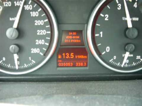 Bmw 325i E90 Instant Fuel Consumption in 6th gear  YouTube