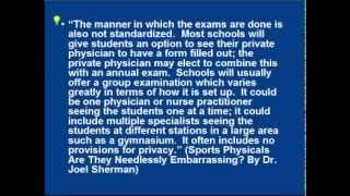 Repeat youtube video Unnecessary Breast / Genital Exams in Sports Physicals