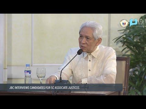 JBC Interviews: Sandiganbayan Associate Justice Samuel Martires