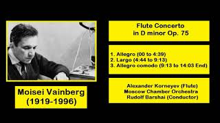 Gambar cover Moisei Vainberg (1919-1996) - Flute Concerto in D minor Op. 75