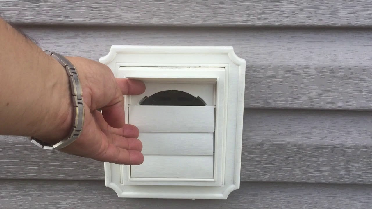outside vinyl siding exhaust vents in