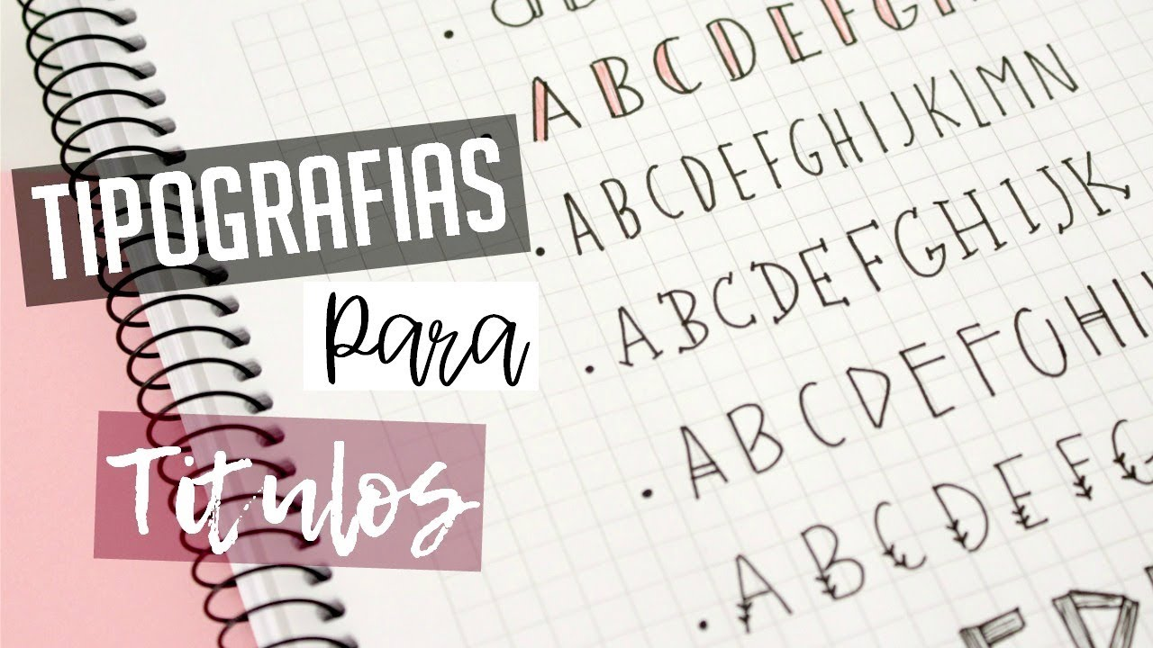 10 Tipos De Letras Para Apuntes Y Titulos Bonitos Youtube