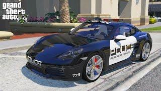 GTA 5 LSPDFR #1 PORSCHE 718 CAYMAN S POLICE PATROL
