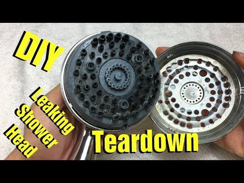 How to Take Apart / Disassemble Leaking Shower Head by Waterpik