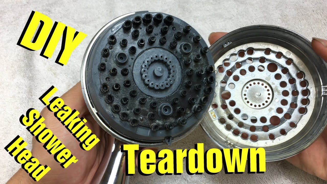 How To Take Apart Disassemble Leaking Shower Head By Waterpik Youtube
