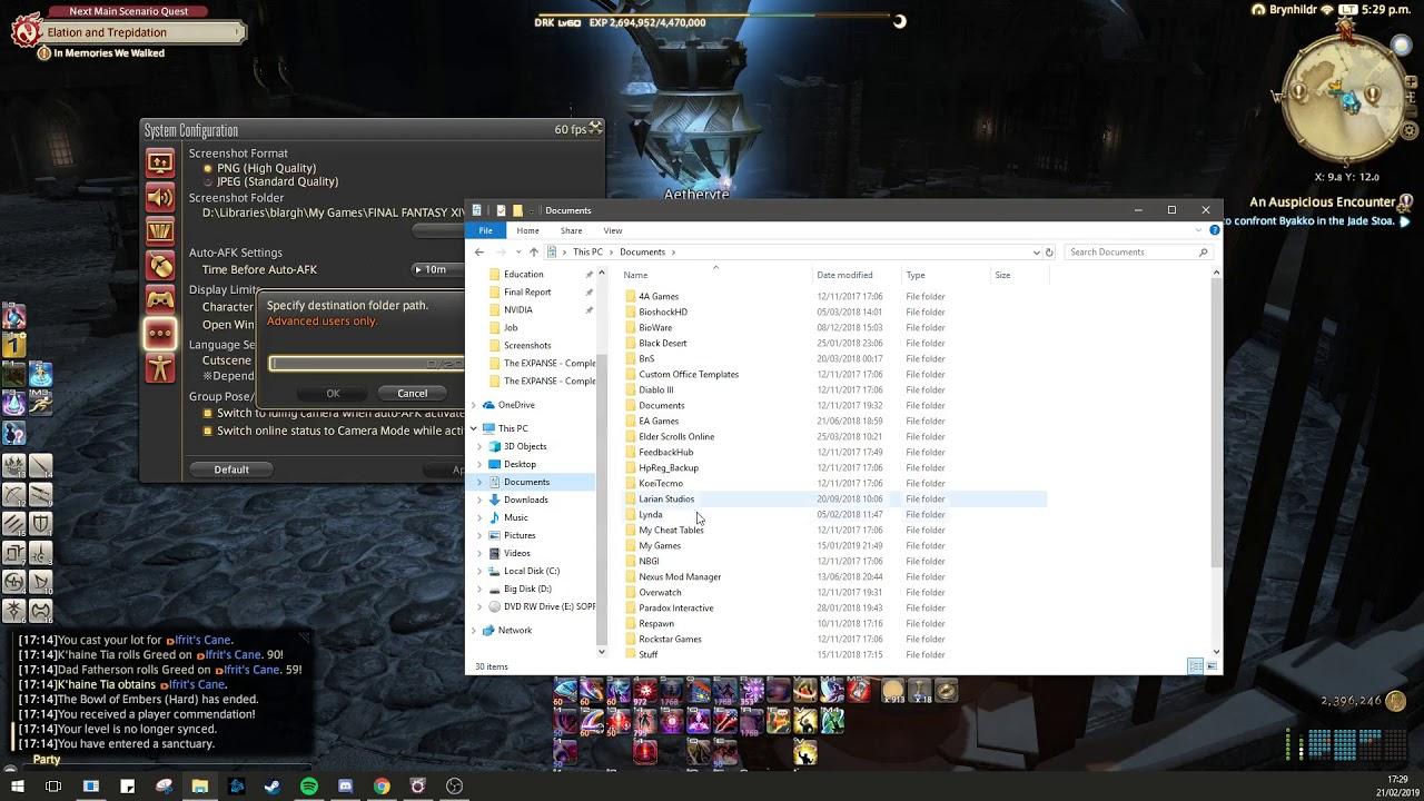 FFXIV ARR - How to fix Screenshot Failed message