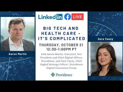 Big Tech and Health Care - It's Complicated