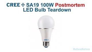 FAILED!!  Cree SA19 100W LED bub TEARDOWN