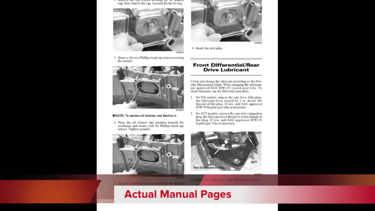 download 2004 arctic cat atvs all models factory service and repair manual  [ 1280 x 720 Pixel ]