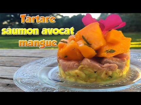 recette-rapide-:tartare-de-saumon-avec-avocat-&mangue