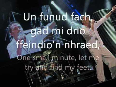 Un Funud Fach - Bryn Fon (geiriau / lyrics)