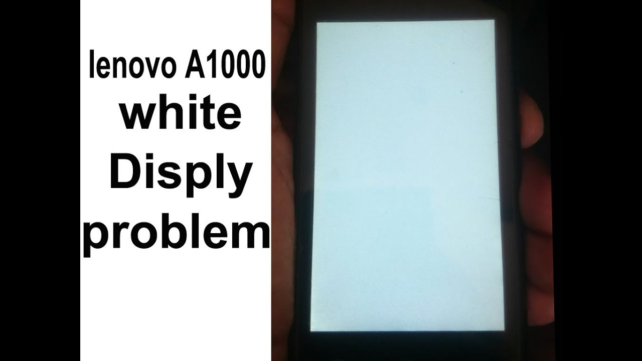 Lenovo A1000 After Flash White Display Youtube Tab 2 A7 30 Putih Tablet