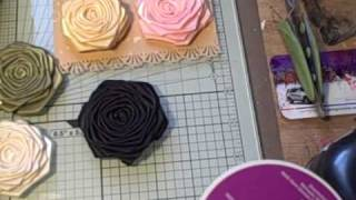 Handmade Ribbon Roses for sale.
