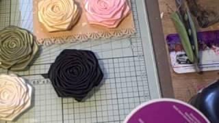 Handmade Ribbon Roses for sale.