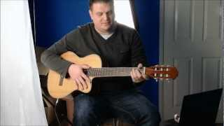 Super Mario Bros theme tune on Classical Acoustic Guitar Video game tab