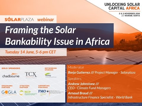 Webinar: Framing the Solar Bankability Issue in Africa