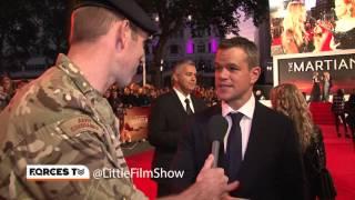 British Army Captain Interviews Matt Damon After Winning A Bet