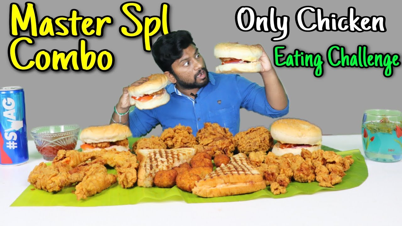Master Special Combo EATING CHALLENGE| Burger, Fried Chicken, Chicken Strips | Eating Challenge Boys