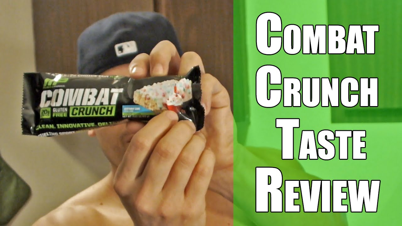 Muscle Pharm Combat Crunch Birthday Cake Taste Test And Review