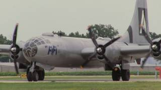 "B-29 ""FiFi"" Takeoff and Landing at the Dupage Airport on 7-23-2011"